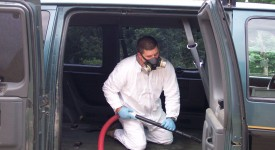 Mold removal in a van using a HEPA vac