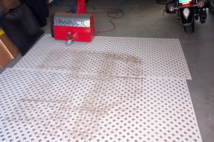 Dusting rugs using the Rug Badger